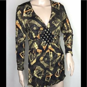 Alberto Makali Shirt Women Small V Neck